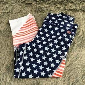 Tommy Hilfiger USA Flag Crop Active Pants Large
